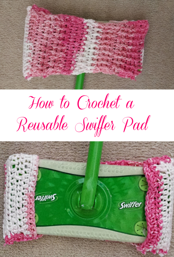 Look what I made! Here\'s how to crochet Swiffer pads!