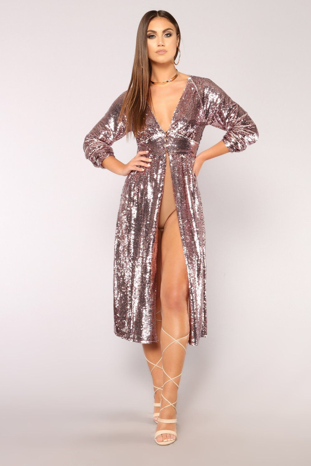 f6d73f76a6996d Show Stopper Sequin Duster - Pink | im just here for the style ...