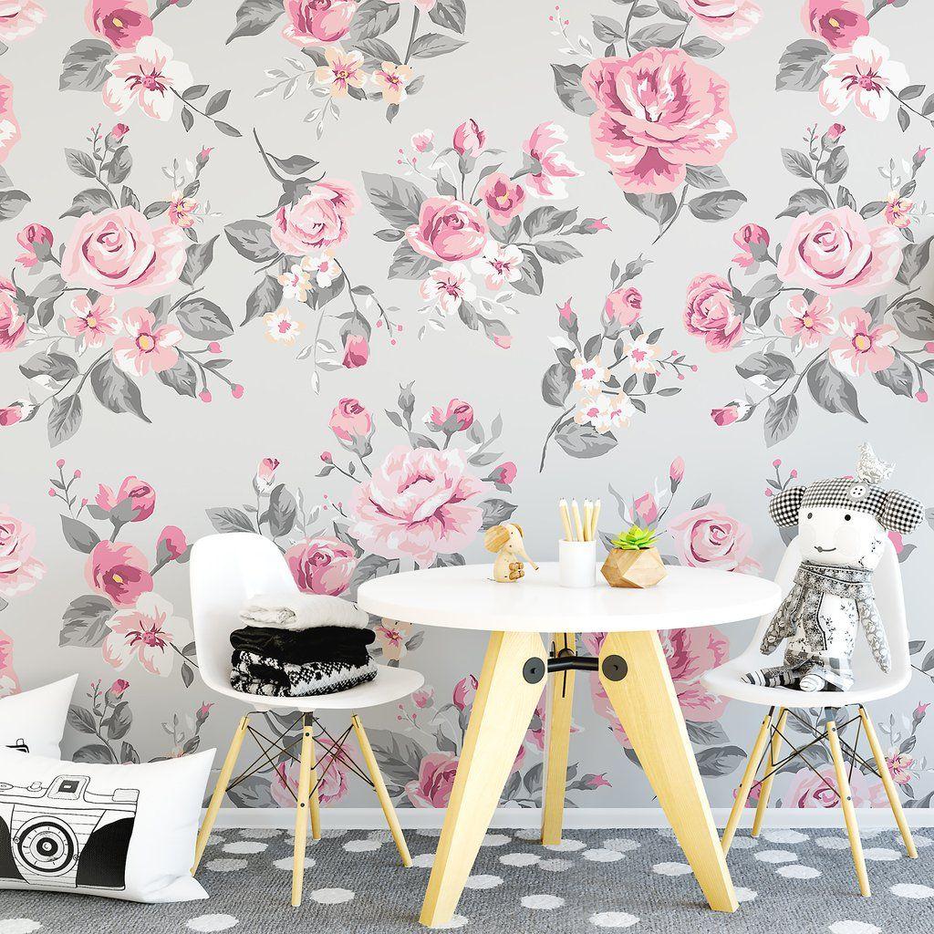 Vintage grey and pink rose wallpaper wallpaper pinterest vintage grey and pink rose wallpaper amipublicfo Gallery