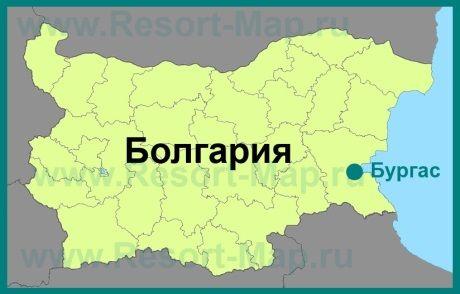 Burgas Na Karte Bolgarii Karta