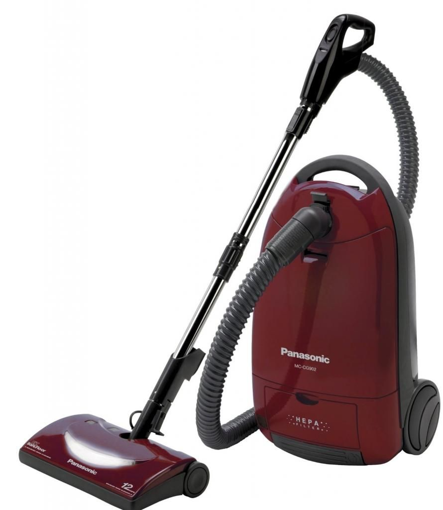 Panasonic Mc Cg902 Full Size Bag Canister Vacuum Cleaner Gives Low Emissions The Hepa Filtration Of Machine Minimizes Amount Dust Particles