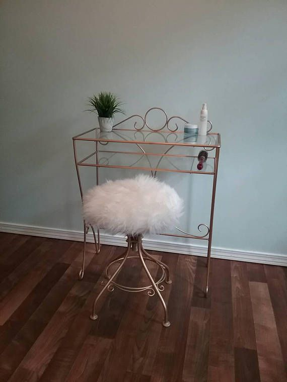 Vintage Metal Hollywood Regency Vanity Stool With Matching This Is A Very Well Made