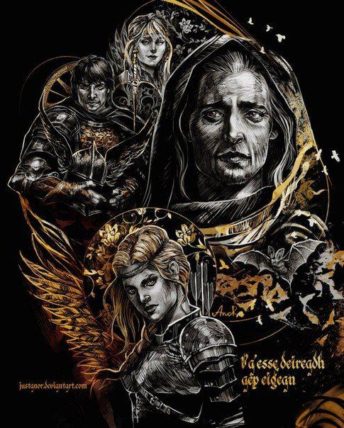 Ведьмак (книга),The Witcher,Ведьмак, Witcher, ,Игры,Ангуле́ма,Кагыр,регис,мильва,арт,красивые картинки,Эмиель Регис