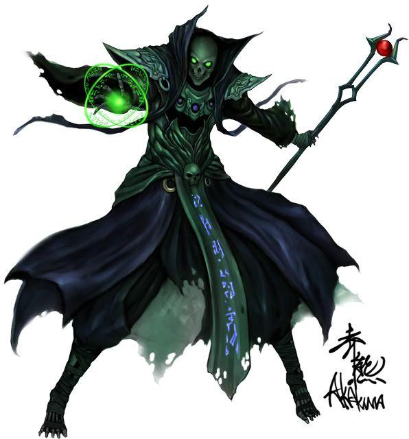 skeleton mage - Google Search | Undead | Fantasy monster