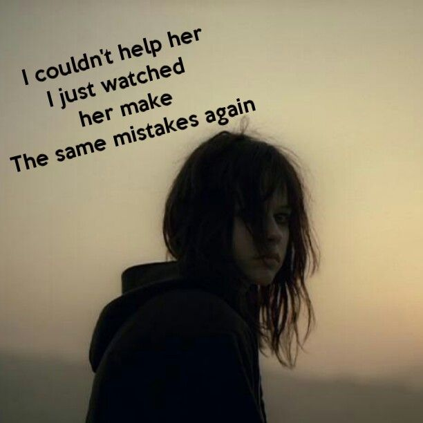 This is a song to discribe my friend trying to help me but I just make the same mistakes cutting again and again