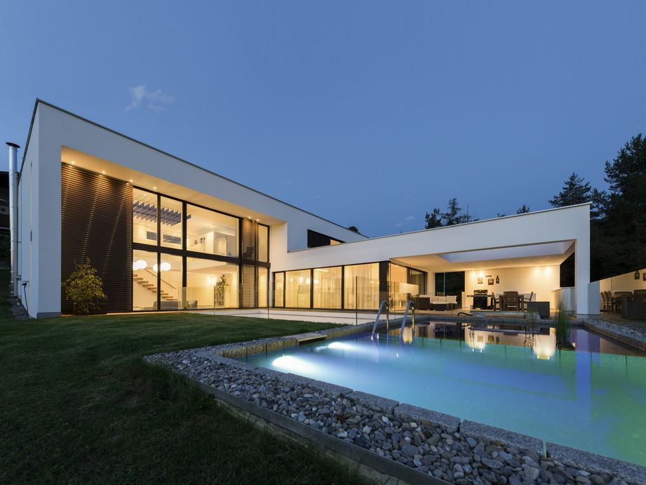 Hanghäuser Modern einfamilienhaus hanghaus röthis modern edelstahlpool luxushaus