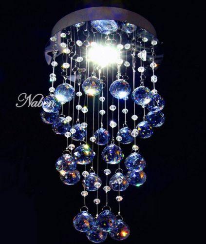 new-Modern-Crystal-LED-Pendant-Lamp-Lighting-Ceiling-Light-Rain-Drop-Chandelier
