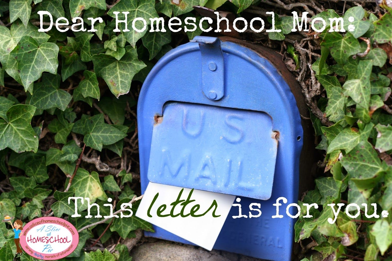 Dear Homeschool Mom This Letter Is For You