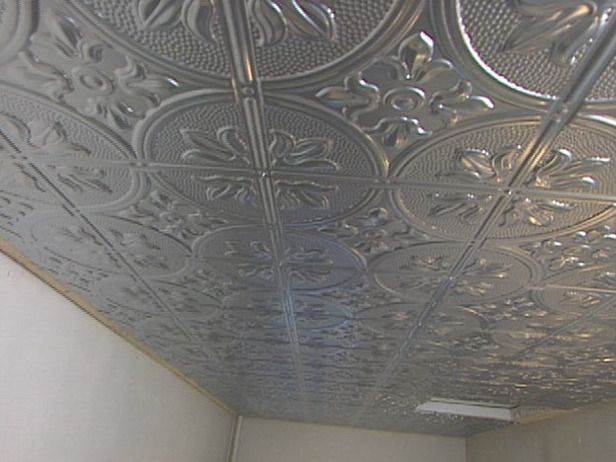 How To Install A Stamped Tin Ceiling Tin Ceiling Tiles Ceiling
