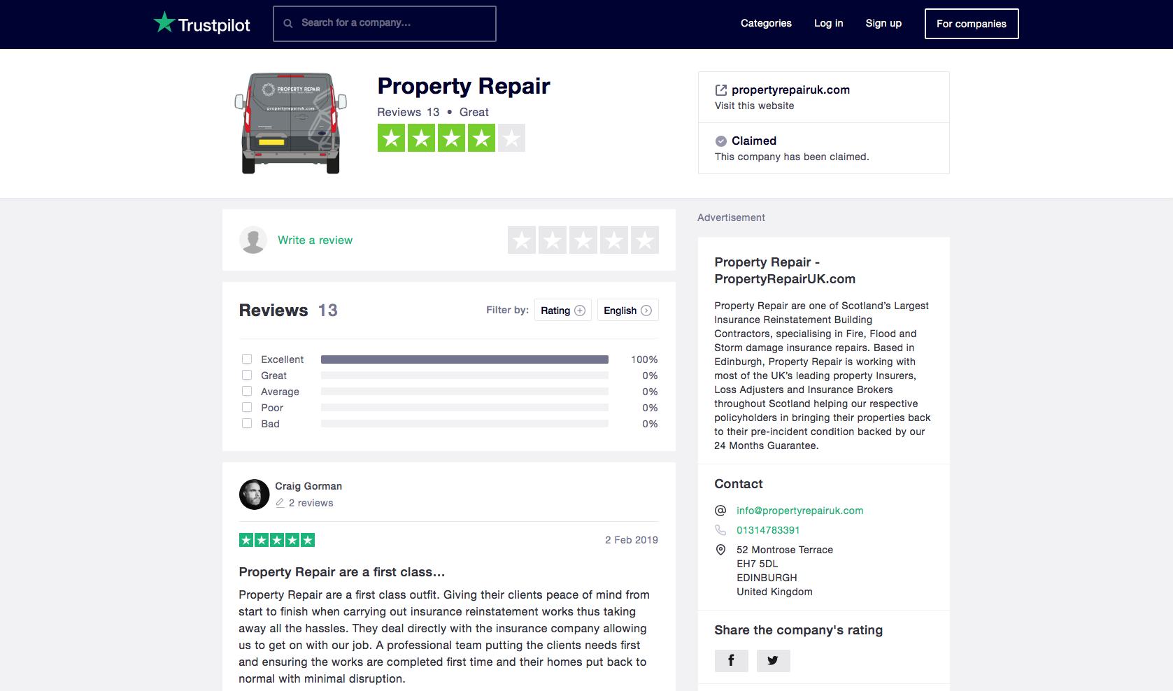 Trustpilot Reviews Repair Property Building Contractors