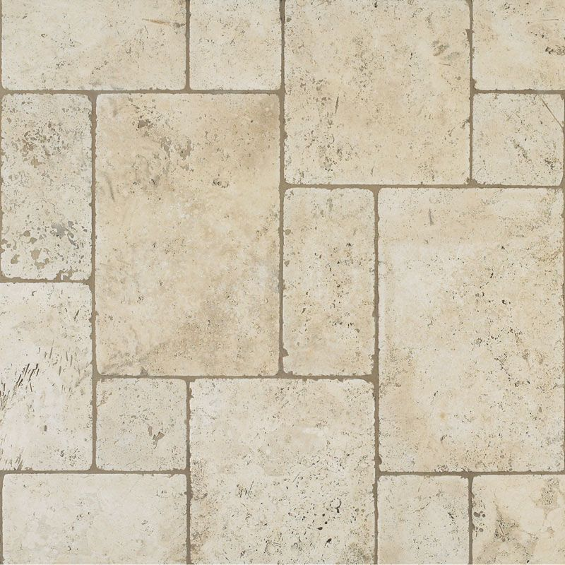 Travertine Tile Designs this darker grout works because it matches the darker colors in
