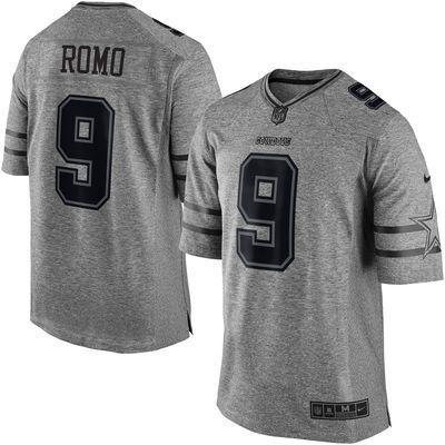 333f0cd6f Dallas Cowboys  9 Romo Gray Gridiron Gray Limited Jersey