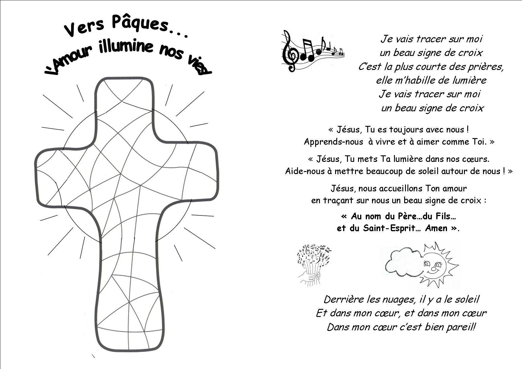Coloriage croix de j sus beau mod le coloriage chemin de croix pour enfant kt croix de j sus - Coloriage catholique ...