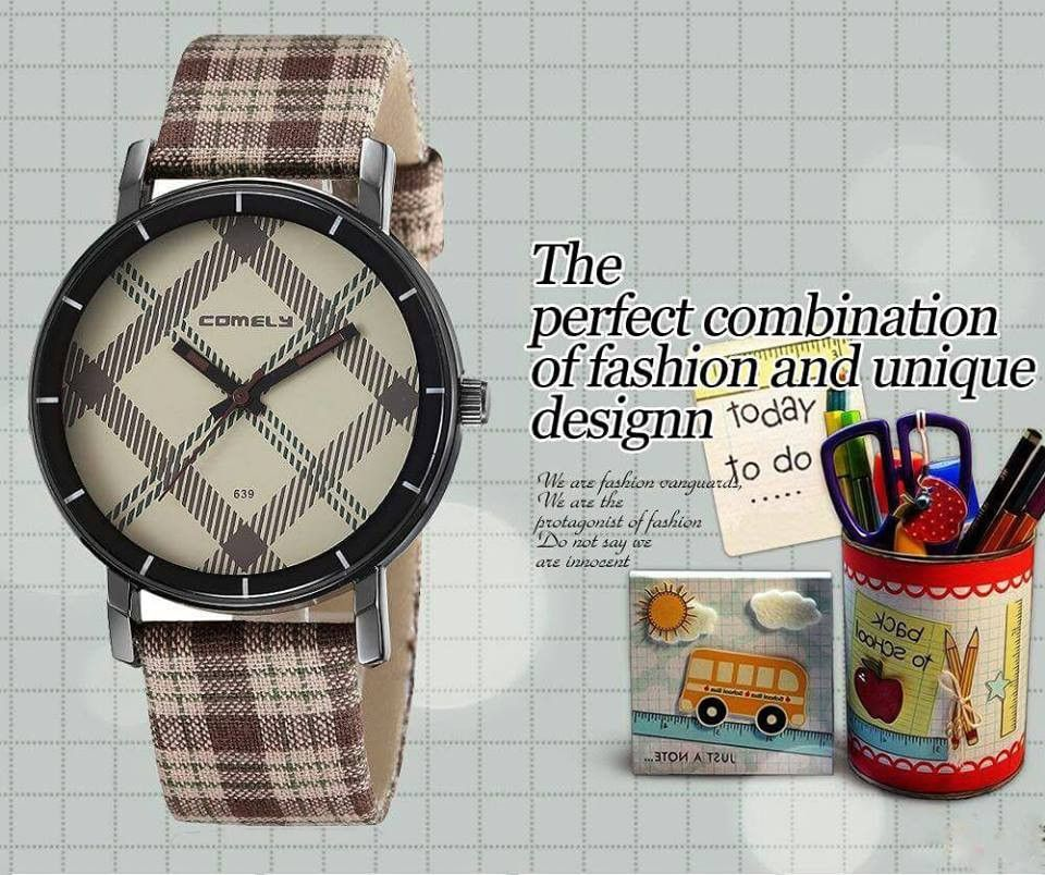 2015 COMELY ELEGANT Fashion Watch. Unisex Design. Two Plaid Colors To Choose From.!!!