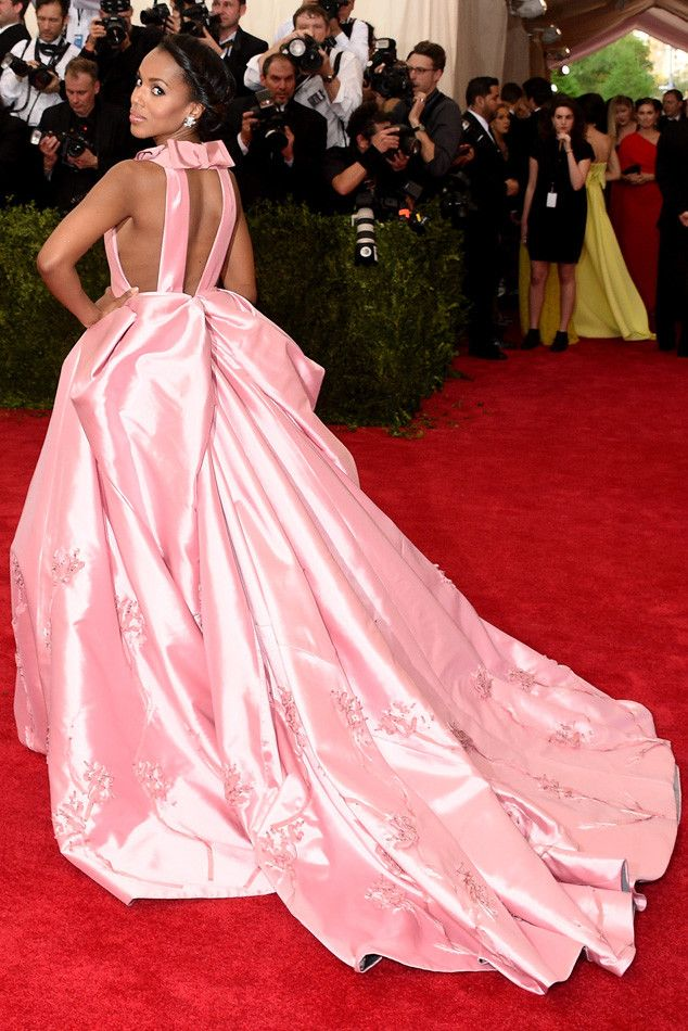 Kerry Washington Is Belle of the Met Ball in Pink Prada Gown