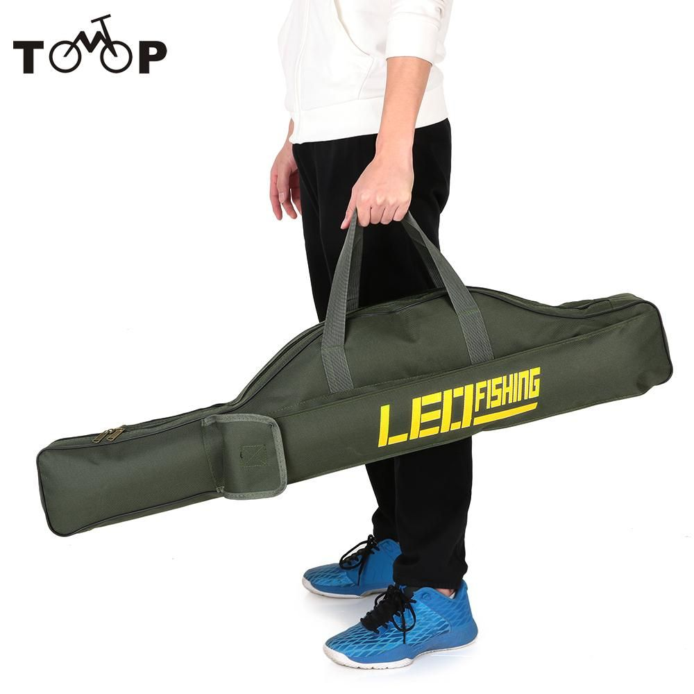 Security & Protection Leo Portable Fishing Bags Folding Fishing Rod Carrier Canvas Fishing Pole Tools Storage Bag Case Fishing Gear Tackle 100cm
