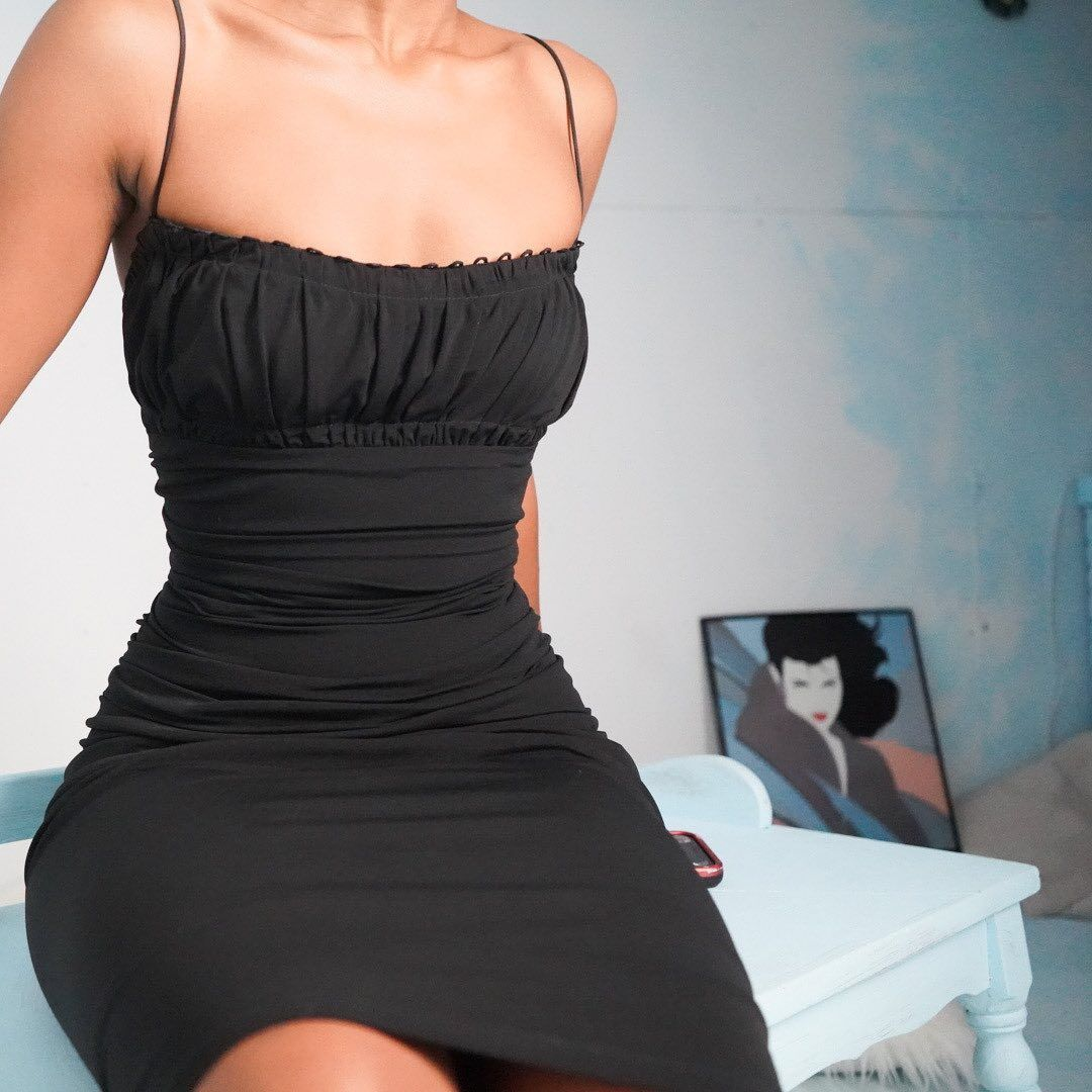 Masha Jlynn On Instagram Sold Early 00s Black Bodycon Dress For A Size M Us 8 10 Has Stretch An Trendy Party Dresses Fashion Outfits Black Bodycon Dress [ 1080 x 1080 Pixel ]