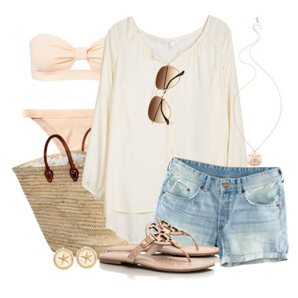 """""""Starfish & Sand Dollars"""" by qtpiekelso on Polyvore"""