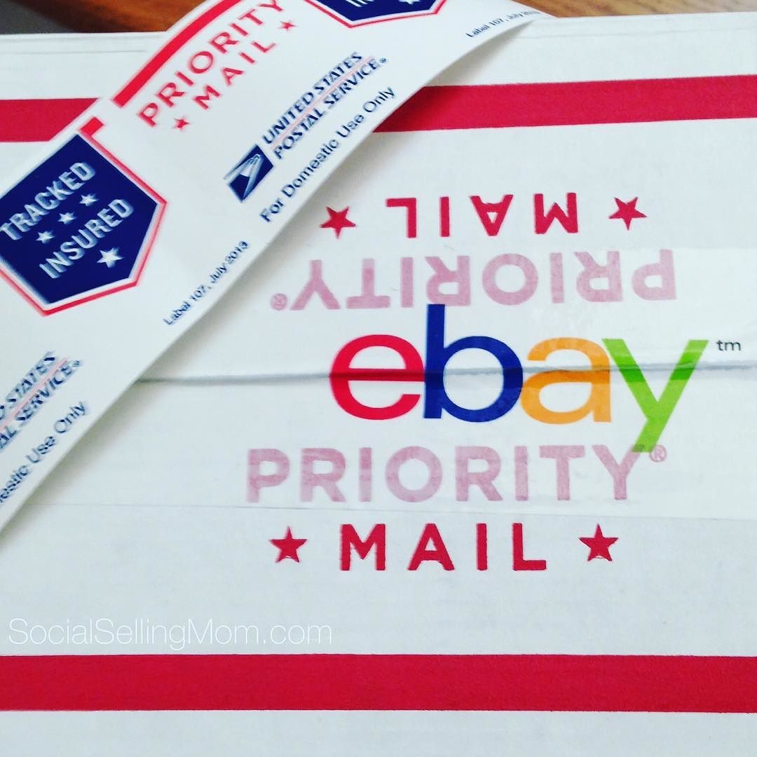 is sharing another #ebaysuccesstip Use FREE USPS Priority Mail sticker  labels!! Perfect for