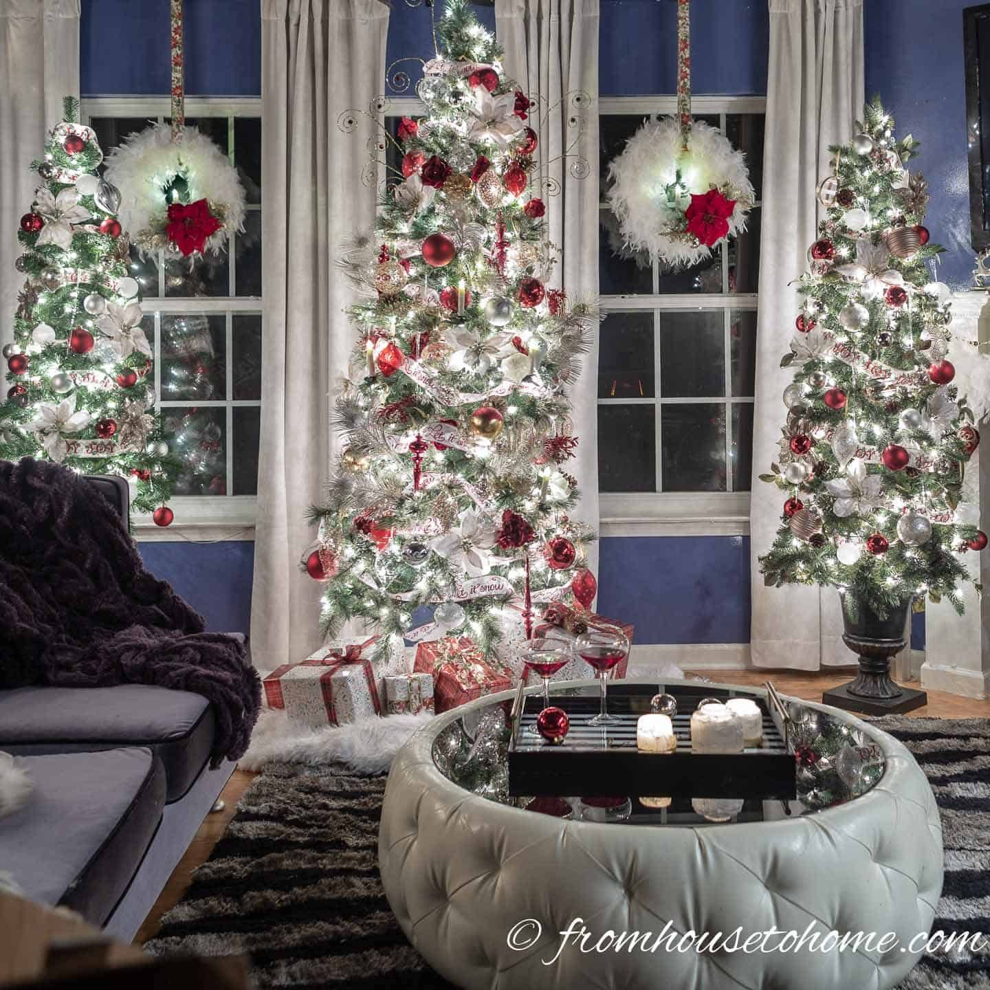White Red And Gold Christmas Home Decor Ideas And 30 Other Christmas Decorating Ideas Red Christmas Decor Christmas Home Christmas Decorations For The Home
