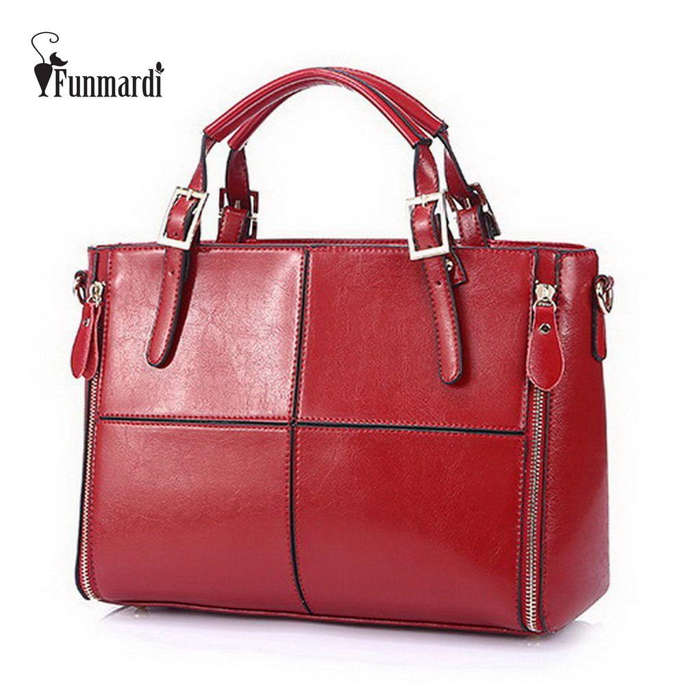 cd14a114acc15 Cheap Ganado división de remiendo de la manera del diseñador bolsos de  cuero de las mujeres
