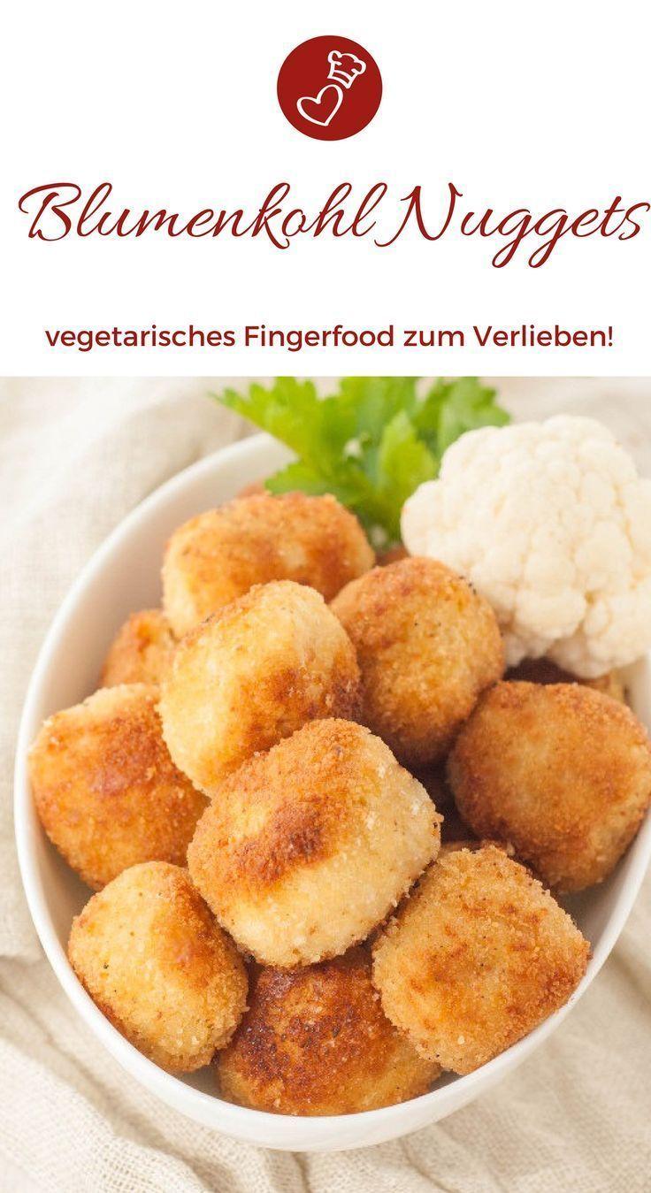 Rezepte Fingerfood-Rezepte, Blumenkohl-Rezepte: Rezept für Blumenkohl-Nuggets von Herzen ...   - Appetizers-recipes-#easysummerrecipes