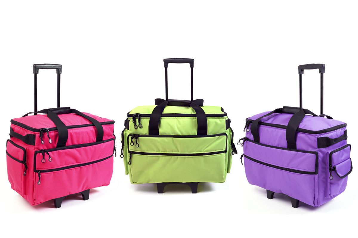 Sewing Machine Case On Wheels Bluefig Tb19im Pink Lime Green Purple Ebay