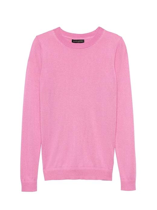 599f70c1767 Banana Republic Womens Silk Cashmere Crew-Neck Sweater Pop Pink