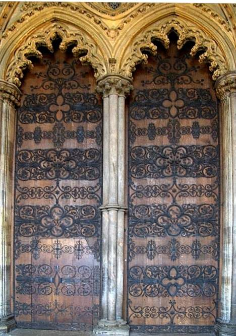 Victorian scrollwork on the West Door Ely Cathedral 1858-65 Ely Cambridgeshire & Victorian scrollwork on the West Door Ely Cathedral 1858-65 Ely ...