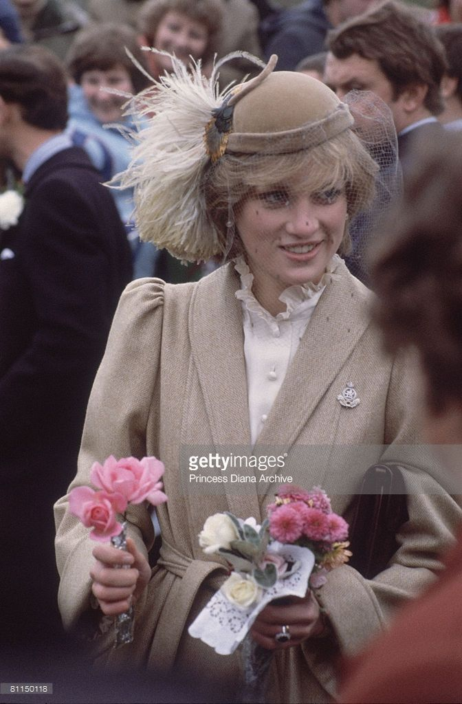 Princess Diana during a visit to St. Davids, Pembrokeshire,