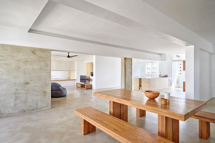 Dining Space Room Colour Bright Spacious Hdb Flat Singapore