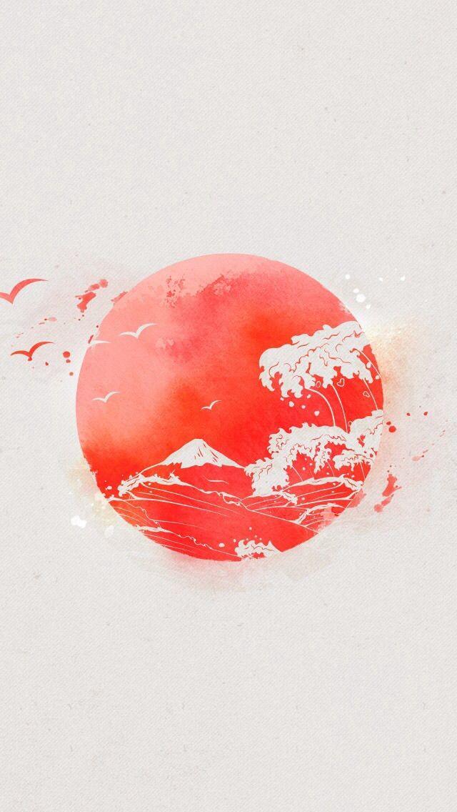 Some Wallpaper Love For You Mobile Users Japanese Art Japan Art Art Wallpaper