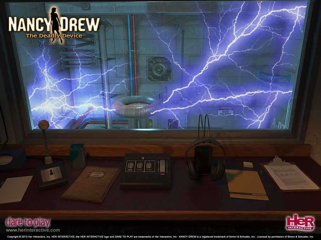 Tesla Coil Wallpaper From Nancy Drew The Deadly Device