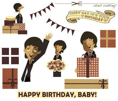 Linnica A 3d Beatles Birthday Card Beatles Birthday Birthday Cards Cards