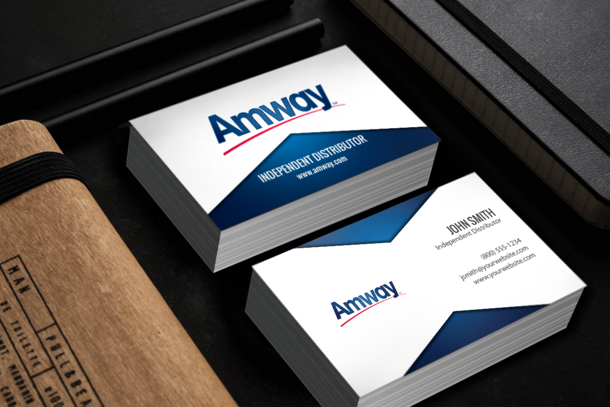 New Designs For Amway Affiliates Mlm Amway Print Paper Graphicdesign Businesscards Contactcard Marketing Amway Business Amway Printing Business Cards