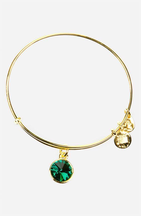 Birthstone Bangle May Emerald