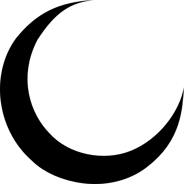 Black Crescent Moon Hi Png 600 599 Pixels Moon Icon Moon Outline Moon Tattoo