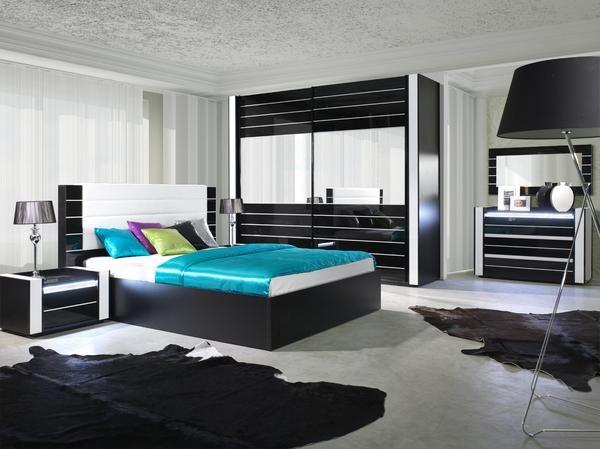 Linn Black Gloss Black bedroom sets, Bedroom decor