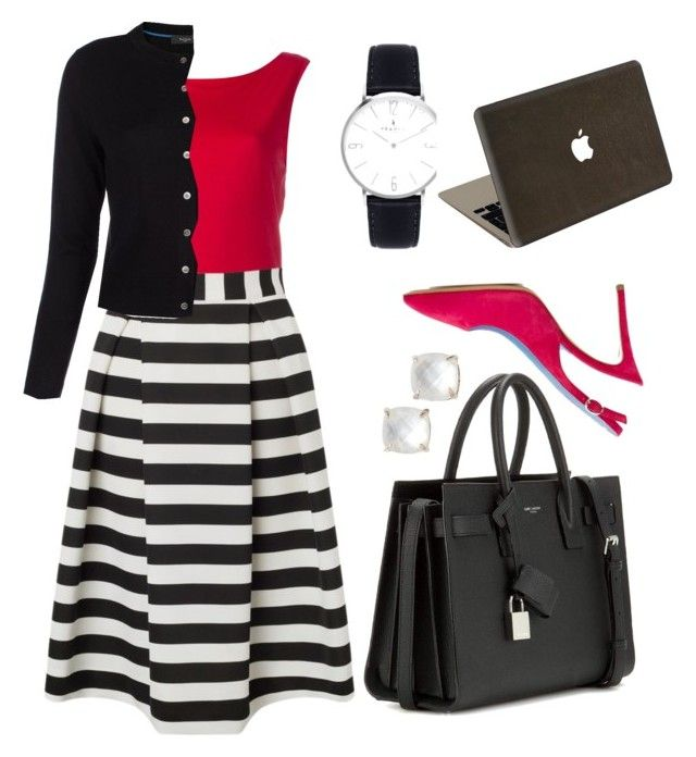 """""""Work work work work work"""" by rochellestair on Polyvore featuring Armani Jeans, Lipsy, Paul Smith, Studio Pollini, Kate Spade, Yves Saint Laurent and Valentine Goods"""