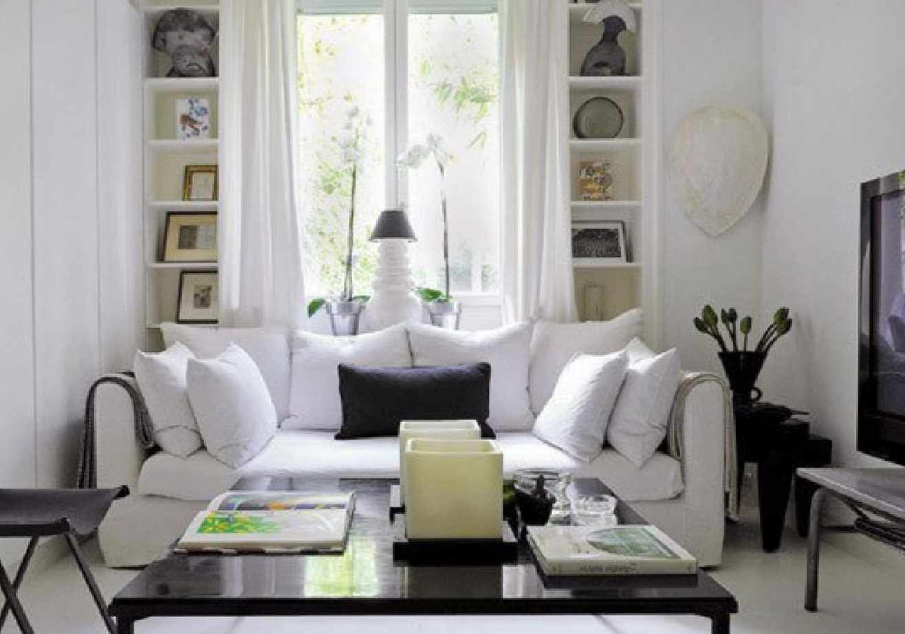 The White Living Room Decor Ehomee Home Interior Design Is Designed Section  Of To The Living