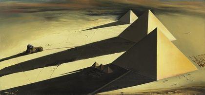 Salvador Dalí, Pirámides Gizeh, 1957.