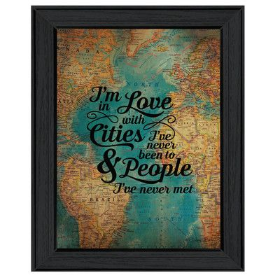 Trendy Decor 4U 'Cities and People' by Susie Ball Framed Textual Art