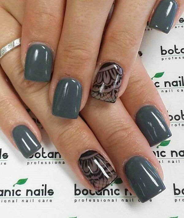 60 Unique And Beautiful Winter Nail Colors Designs | Winter nails ...