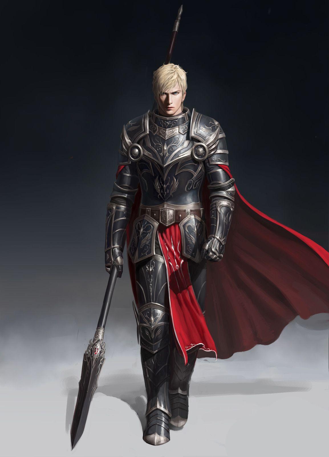 spearman, yongwon park | Fantasy armor, Fantasy character design, Concept art characters