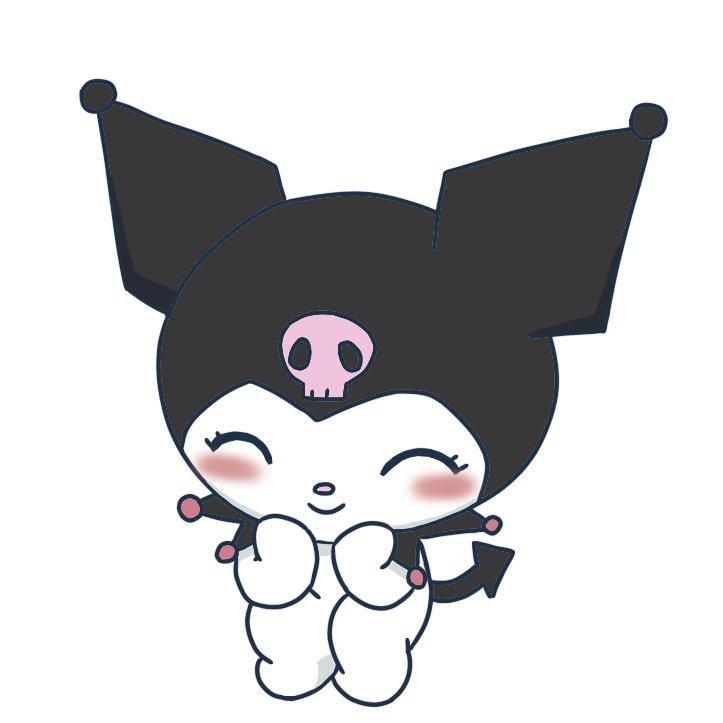 Kuromi   Melody hello kitty, Hello kitty, Scrapbook frames