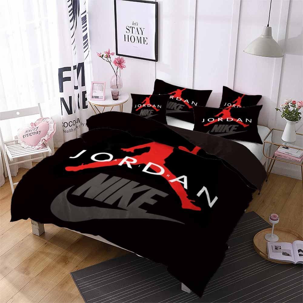 Black Red Jordan Bedding Set Price: 8.8 & FREE Shipping