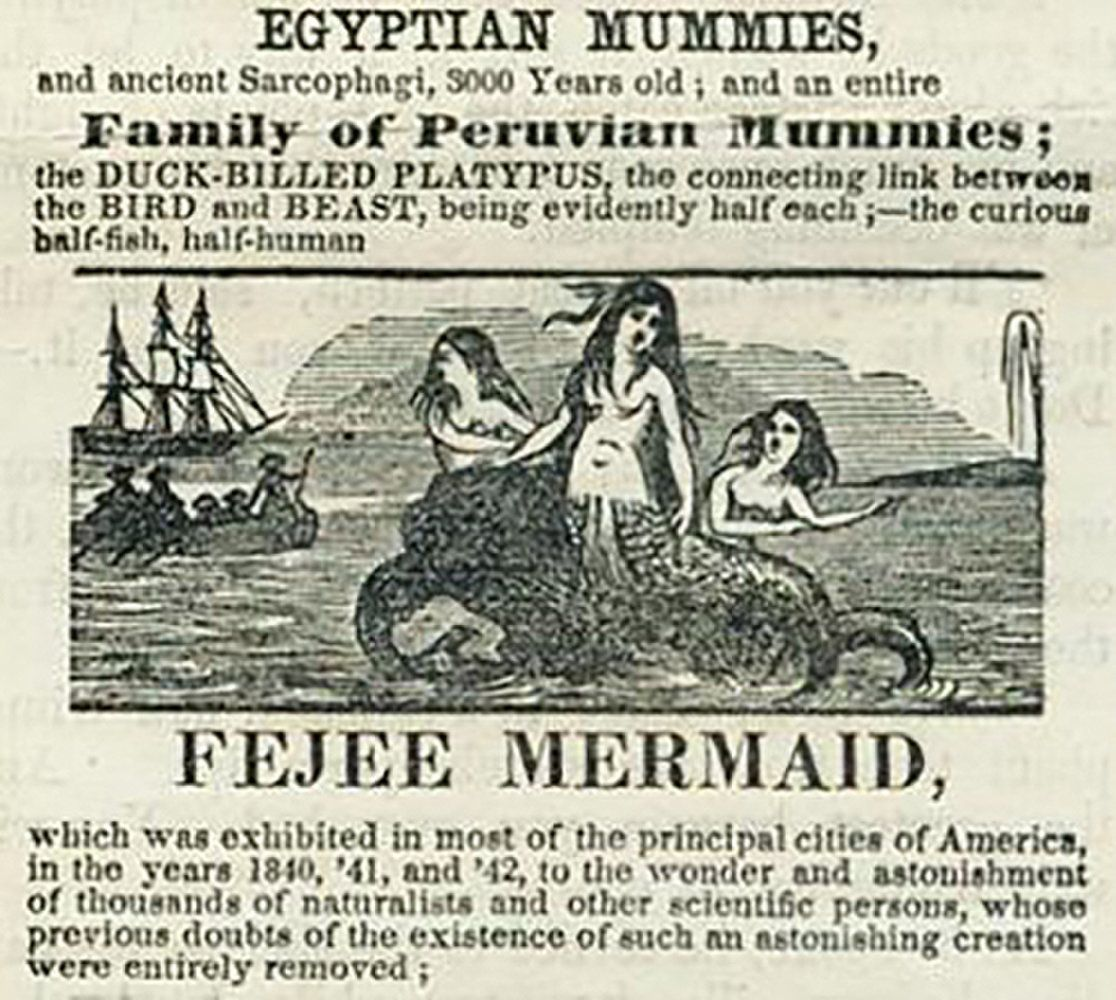 The Feejee Mermaid was one of P.T. Barnum's earliest successes in showmanship, promotion and humbug.
