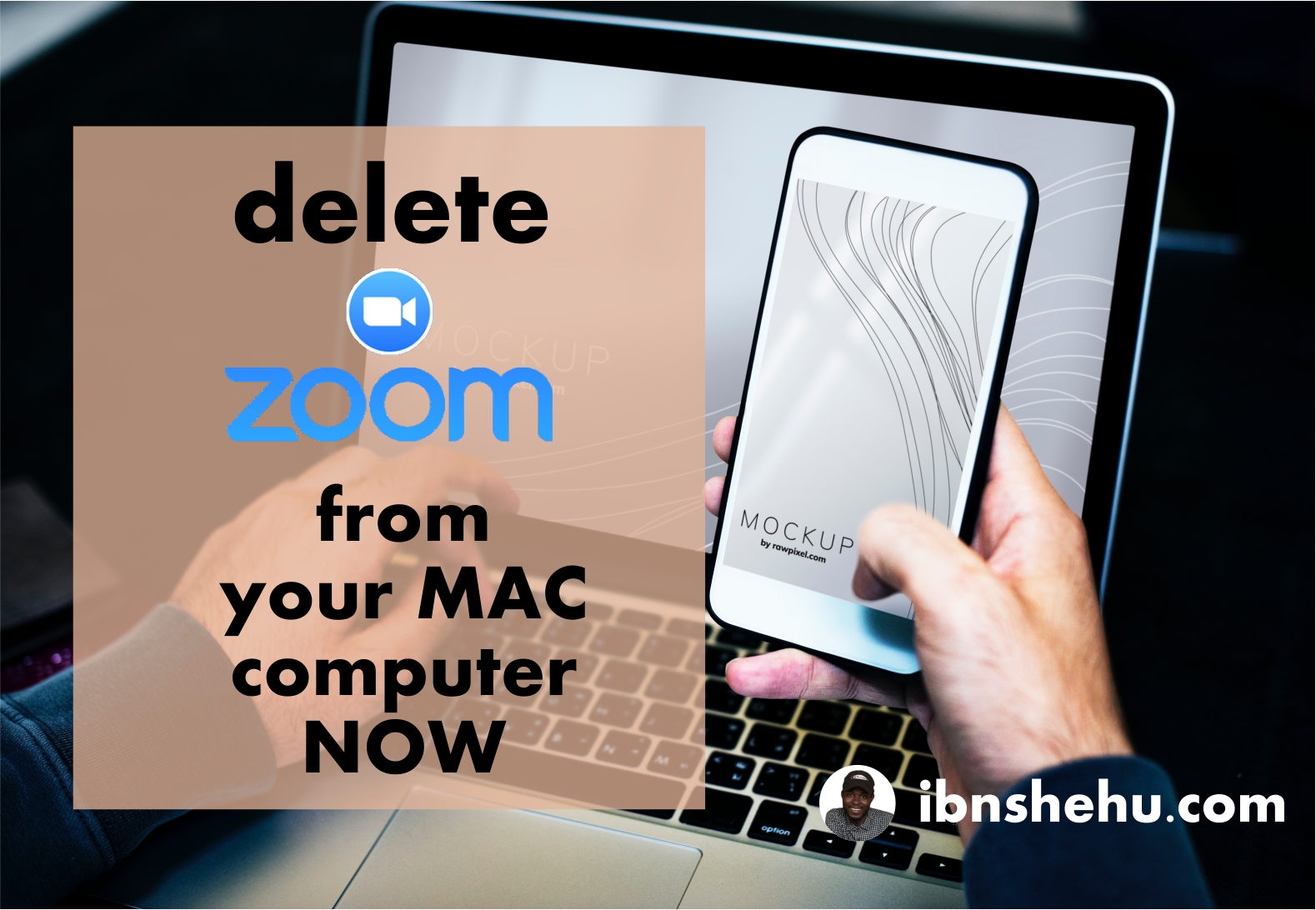 Delete Zoom from your MAC Computer ASAP Zoom video