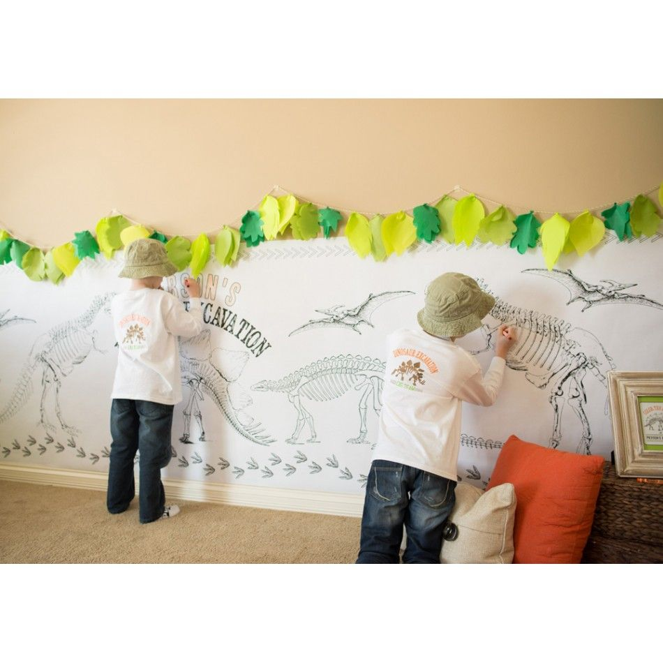 Super fun party activity for Dinosaur Parties!  A dinosaur coloring wall poster....