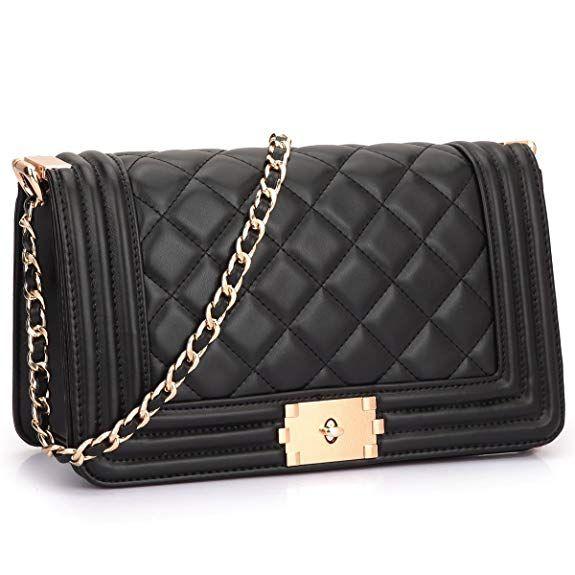 a0e4da6c636 ... Crossbody Bags Twist Lock Shoulder Bags Satchel Handbags w Chain Strap.  CLOSURE  Top zipper closure
